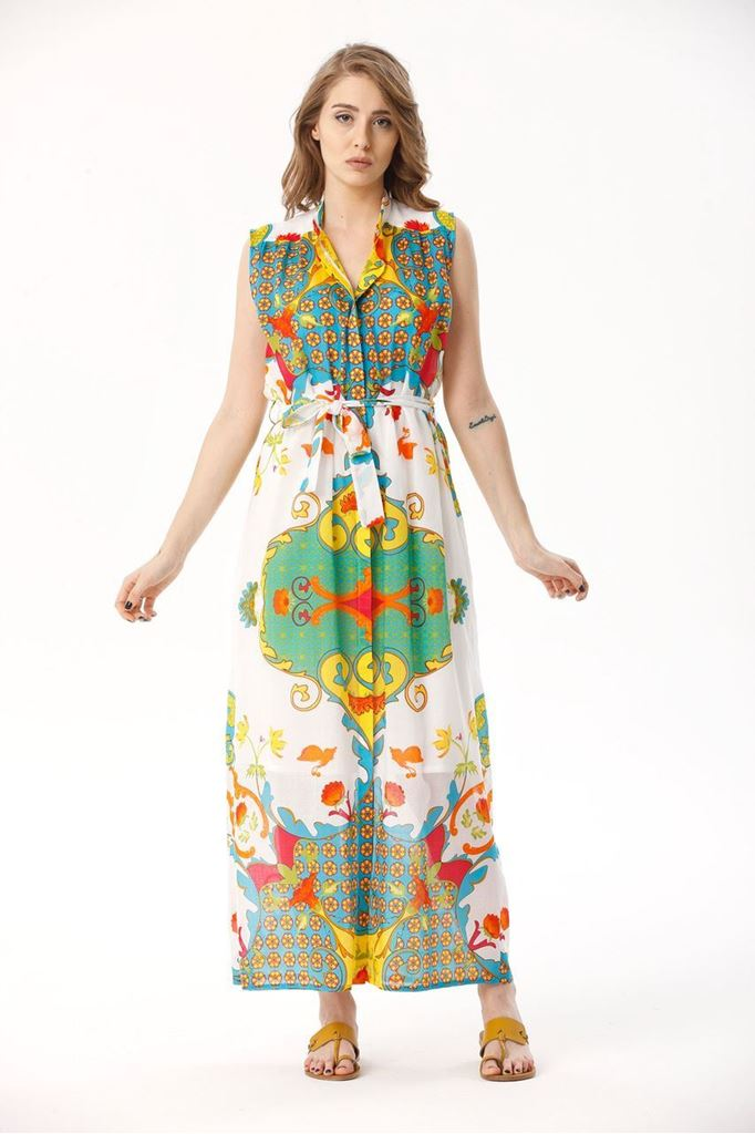 Picture of 17SFCV224 LONG DRESS